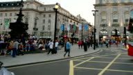 Piccadilly Circus Oxford & Regent street, London, England by time-lapse 4K