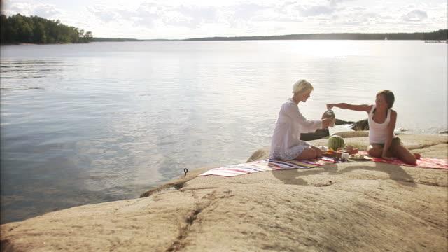 A picnic by the sea Blido Stockholm archipelago Sweden.