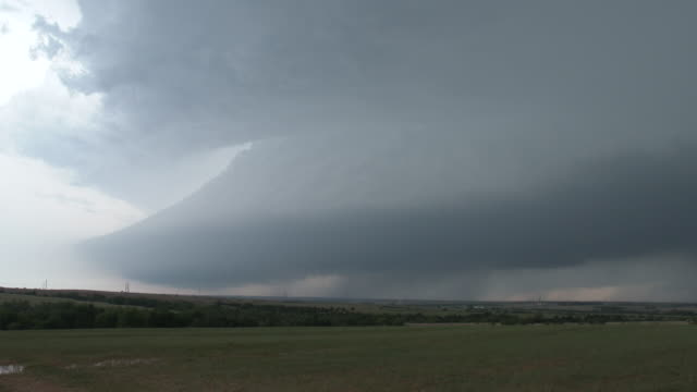 Picturesque Supercell Thunderstorm Over Rural Oklahoma