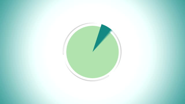 Pie chart indicated 60 percent, Infographics circle graph