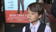 INTERVIEW Pierce Gagnon on working with Zach Braff on Kate Hudson as a movie mom on how working on this movie reminded him of his own family at 'Wish...