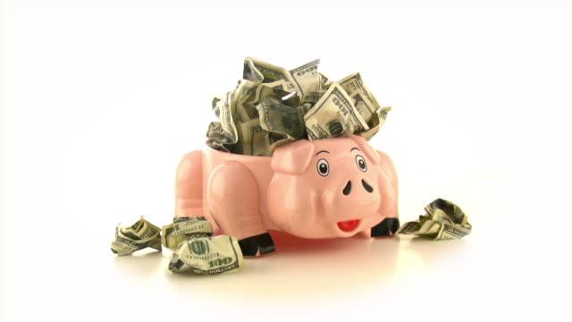 Piggy bank & Dollars, Cash, Money, Savings