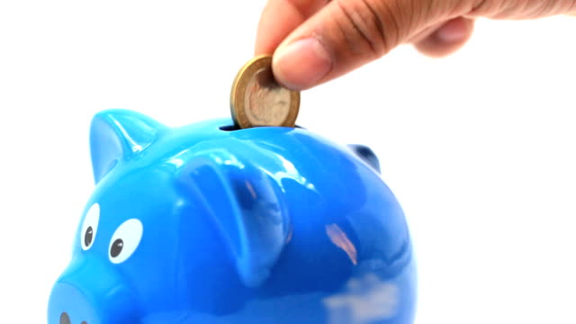 Piggy bank for Savings finance investment economic and insurance concept.