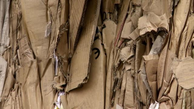 Pile Of Cardboard Waste Tilt Up