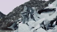Pile of scrap metal on junkyard