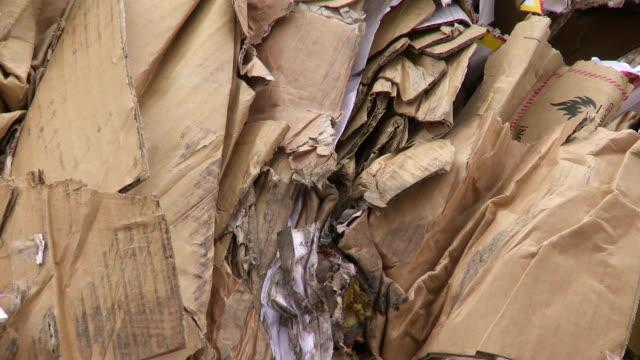 Piles Of Cardboard Waste Tilt Up