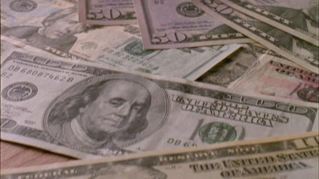 CU, CS, Piles of Dollar banknotes