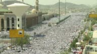 Pilgrims performed Friday prayers after the morning rituals on Mount Mercy in the Arafat plain at the annual Muslim hajj where close to two million...