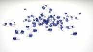 Tablette Kapseln fallenden