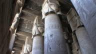 WS TD Pillars in pronaos with head of goddess Hathor on capitals, Qena, Egypt