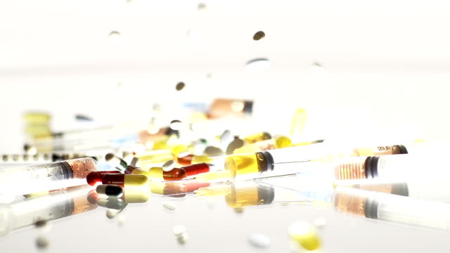 HD TIME-WARP: Pills Falling Over Syringes