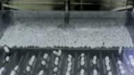 CU TD Pills filling into rows at pharmaceutical manufacturer / Ratchathewi, Bangkok, Thailand
