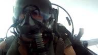 F16 pilot air to air cockpit footage