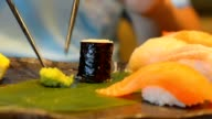 pinch wasabi for eating with Maki Sushi