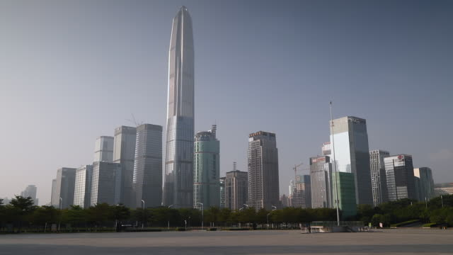 Ping An Finance Centre and skyscrapers, Futian, Shenzhen, Guangdong, China, Asia
