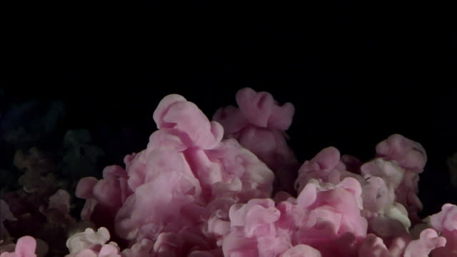 Pink and white cloud effect