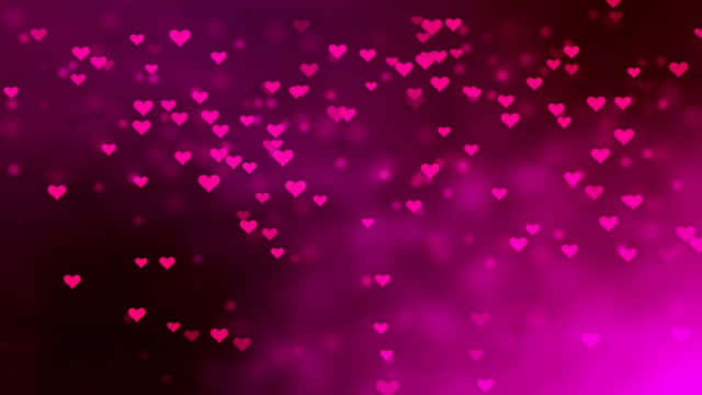 4K Pink Heart-Shaped Particles Flying - Loopable