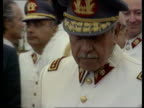 Pinochet extradition Lord Hoffman attacked by fellow law lords LIB Pinochet in dress uniform looking at exhibition of military vehicles