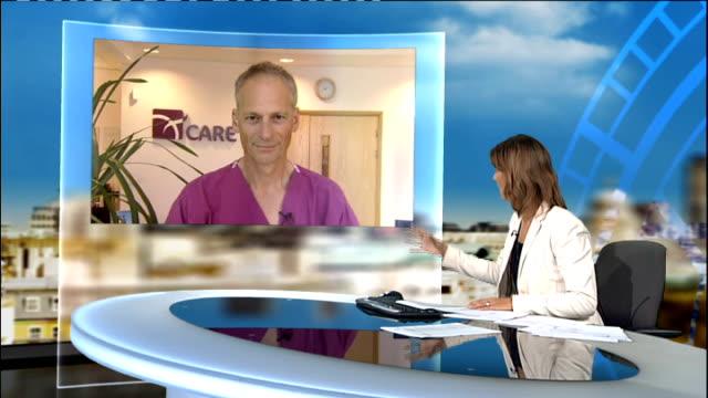Pioneering IVF eggscreening technique results in birth of healthy baby boy ENGLAND London GIR INT Professor Simon Fishel LIVE 2WAY interview SOT...