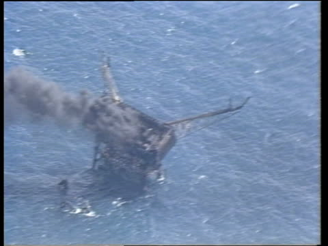 Safety issues NORTH Burning oil rig