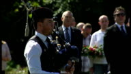 Service of remembrance held to mark 25th anniversary Bagpipes SOT