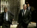background j ENGLAND London Downing St No 10 MS Cecil Parkinson out of No 10 towards INTVW SOF 'Well the be affected'