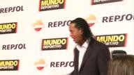 Piqué Ronaldinho Iniesta Melanie Costa arrive to the '68º Gala Mundo Deportivo' in Barcelona