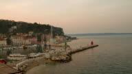 HD TIME-LAPSE: Piran's Marina At Sunrise