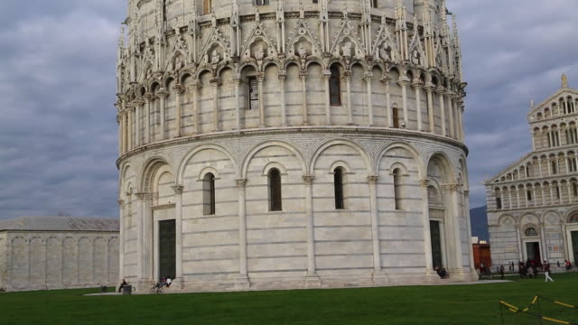 Pisa, exterior view of the baptistry