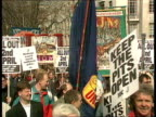 Demo and Commons vote C4N ENGLAND London MS Miners demo towards and past CMS Peter Sharp along with miners TRACK BACK MS Demos along towards with...