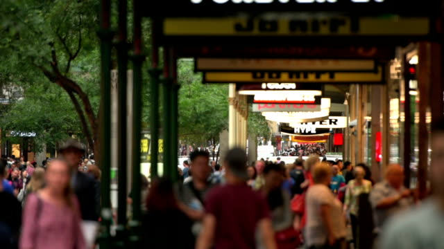 Pitt Street Sydney crowds