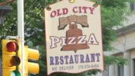 MS ZI ZO pizza restaurant signboard / Philladelphia, PA, USA