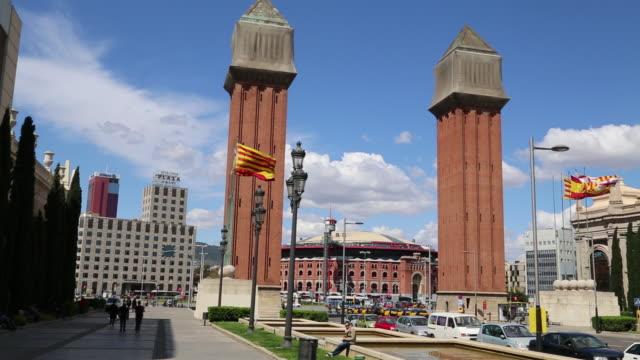 Placa d'Espanya, Venetian towers, Barcelona