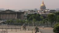 T/L ZO WS HA Place de la Concorde with Palais Bourbon and dome of Hotel Des Invalides in background / Paris, Ile de France, France