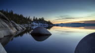 Placid Water at Lake Tahoe - Time Lapse