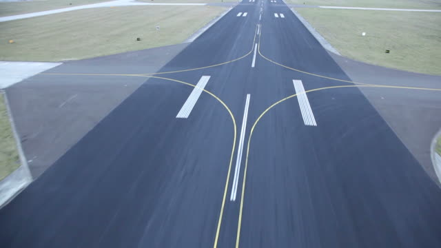 plane landing (pov shot)
