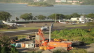 A plane prepares to take off Antigua