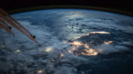Planet Earth beauty at night, point of view from the International Space Station (ISS)