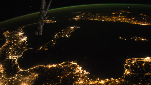 Planet Earth from Space: from the Iberian Peninsula to the Red Sea at night