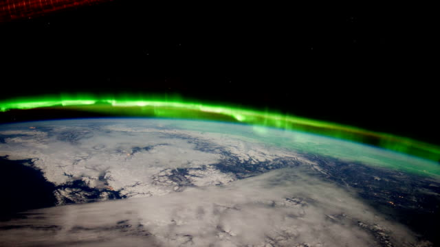 Planet Earth from Space:Aurora Borealis from Canada to the Central US