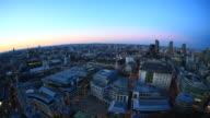 Planet von London. Fisch Auge Ansicht der Stadt HD-Videos