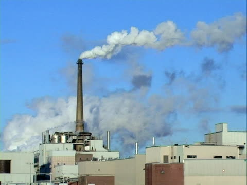 Plant emitting co2 into the atmosphere,