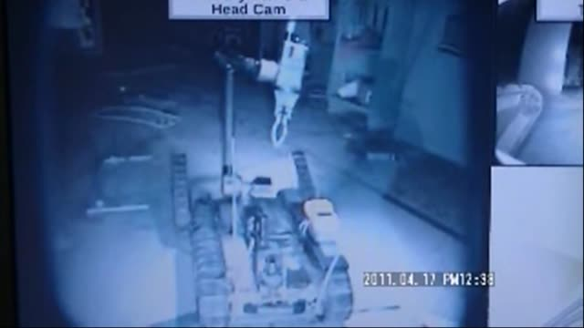 Plant operator Tokyo Electric Power released new video footage filmed on April 17 and 18 from a robot camera showing damage inside the Fukushima No1...
