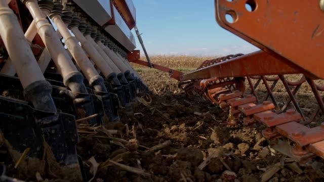 SLO MO Planting Wheat Seeds
