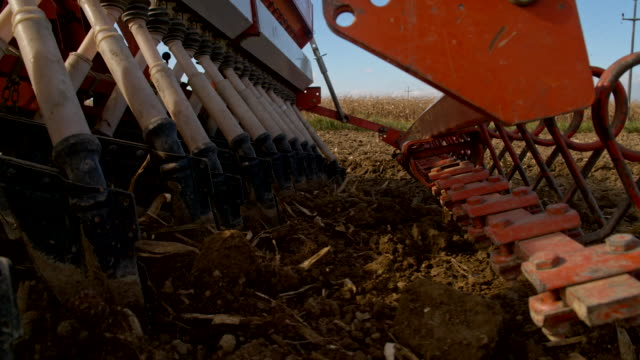 SLO MO Planting Wheat With The Seeder