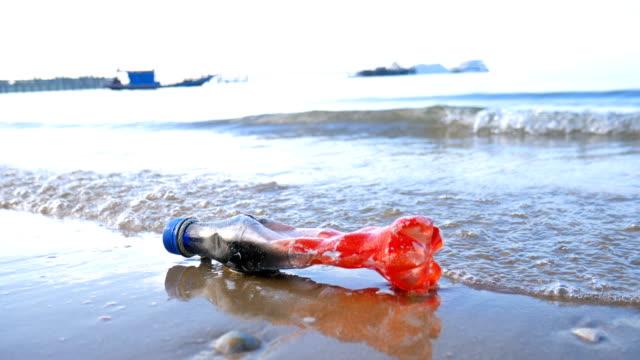 Plastic Bottle Garbage in Sea, Environmental Pollution