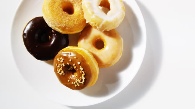 plate of donuts
