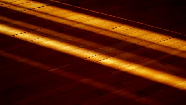 play of light on the floor