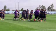 Players of Porto attend training session at the team's training facilities ahead of the UEFA Champions League Group G soccer match between Besiktas...