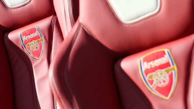 Players seats at the Arsenal Emirates Stadium